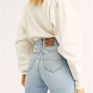 Free people x Lee high rise flare jeans